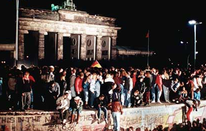 Berlin Wall Comes Down -- 1989