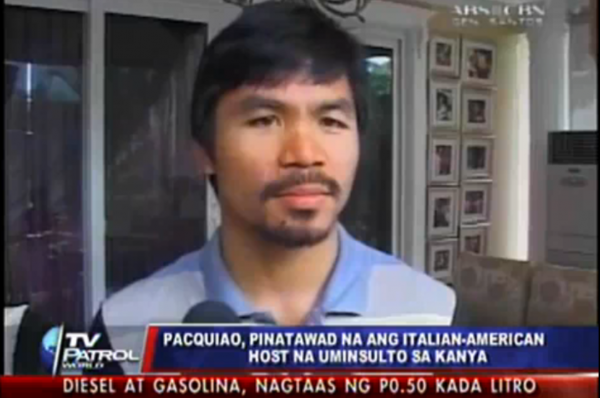 Amidst Rising Pinoy Anger, Pacquiao Accepts Carolla Apology