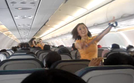 Cebu Pacific's Dancing Flight Attendants