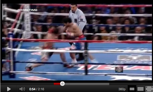 Video Reply: Pacquiao Stepping on Marquez' Foot – accidental or intentional?