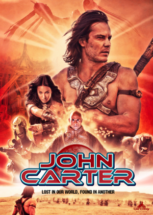 Watch Andrew Stanton's JOHN CARTER on Starz tonight and tomorrow; check out these FAN TRAILERS and FAN POSTERS