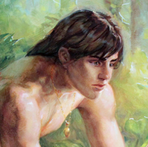 A Tarzan Oil Painting by Cynthia Sheppard just gave me goosebumps . . .