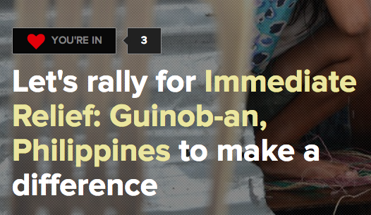 Emergency Micro-aide Relief Project For Guinob-an, Eastern Samar can be a template for other towns