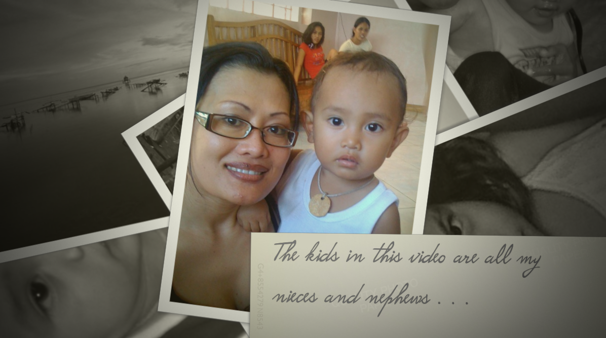 Our VIDEO Love Letter to Rena's nieces and nephews who lost their homes to Typhoon Yolanda