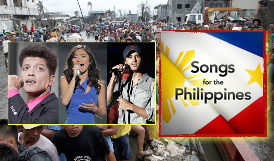 "Sony, Warner, and Universal Release 39 Track Album: ""Songs For the Philippines"""
