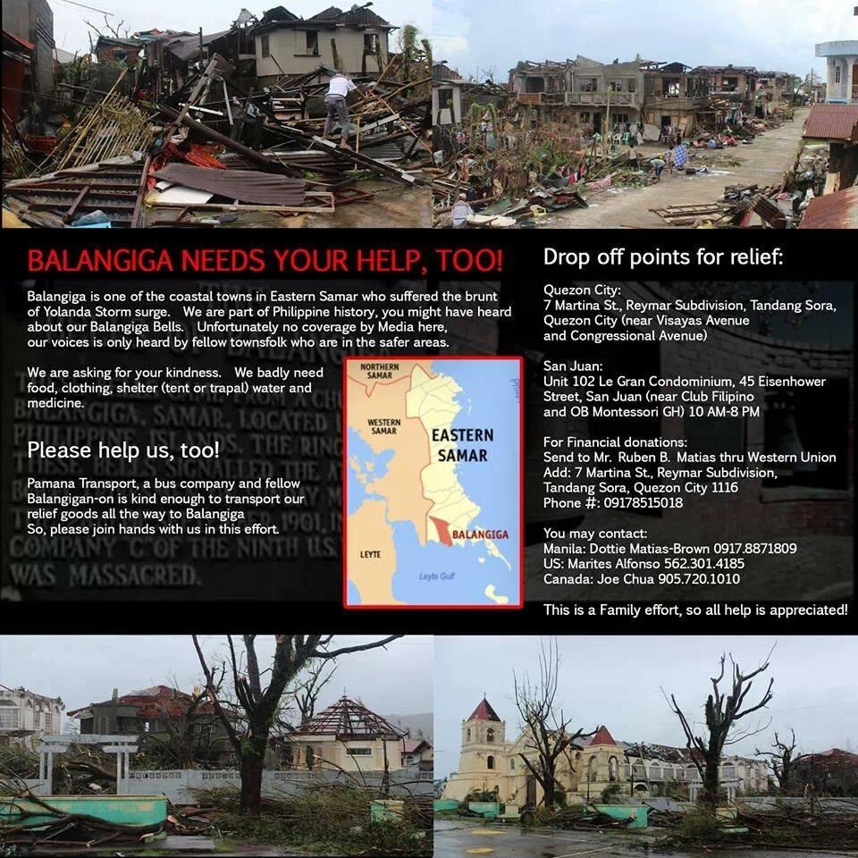 Balangiga Needs Your Help Too