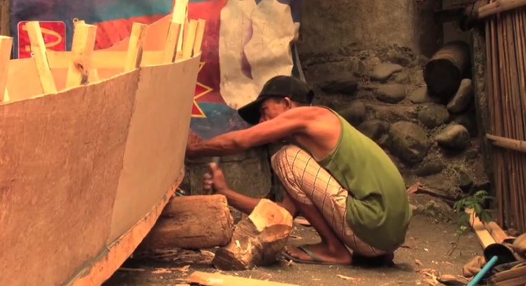 VIDEO:  A Native Boat Builder in the Philippines builds a banca boat