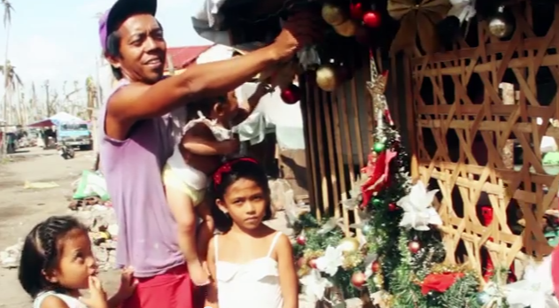 Video: A Typhoon Ravaged Family Still Celebrates Christmas