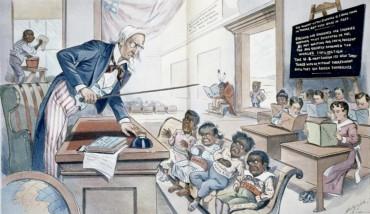 Uncle Sam Teaching Filipins