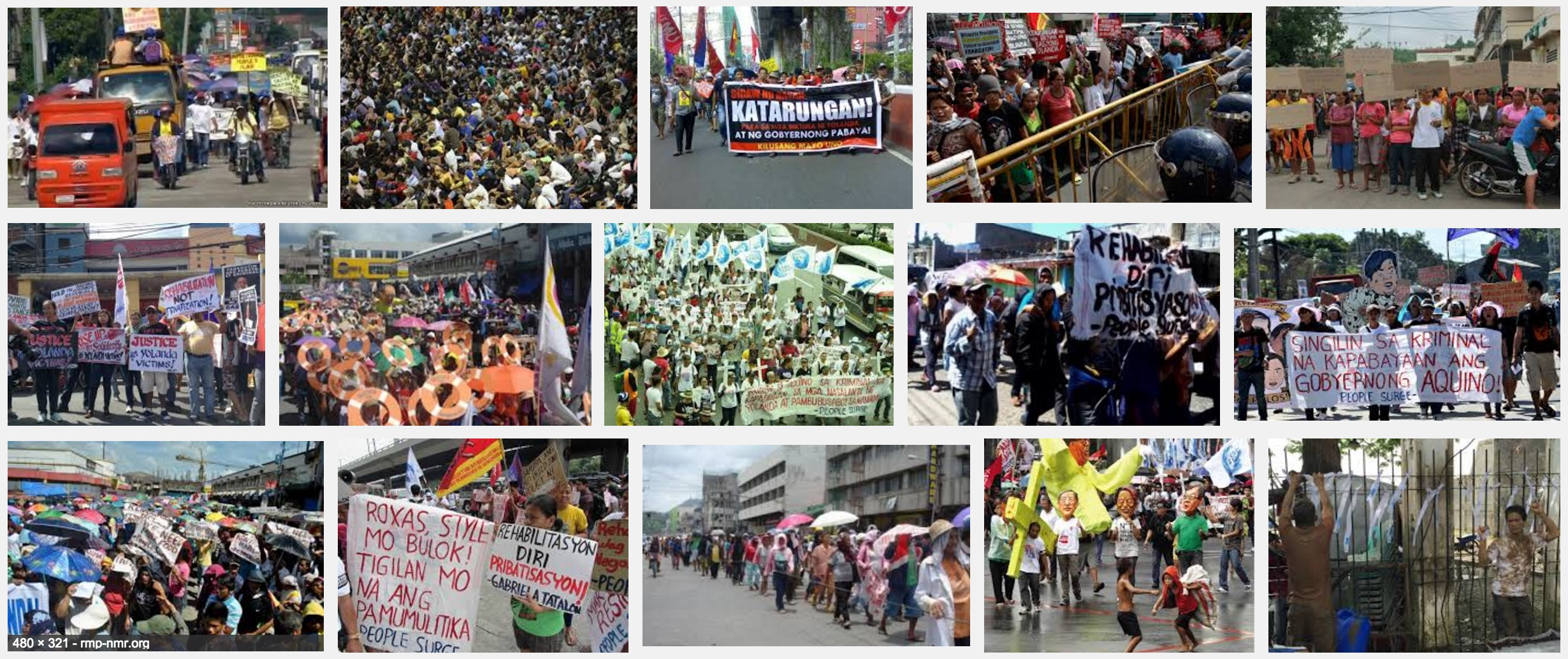 Yolanda Survivors Protest