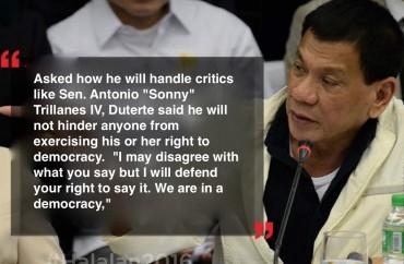 Duterte on Democracy