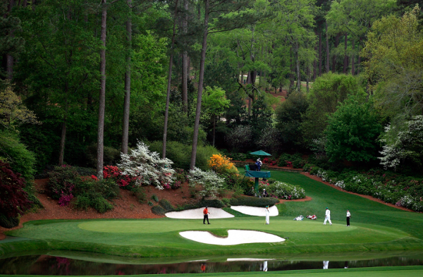 Full Masters Theme Song; Video of Tiger's Famous Chip In