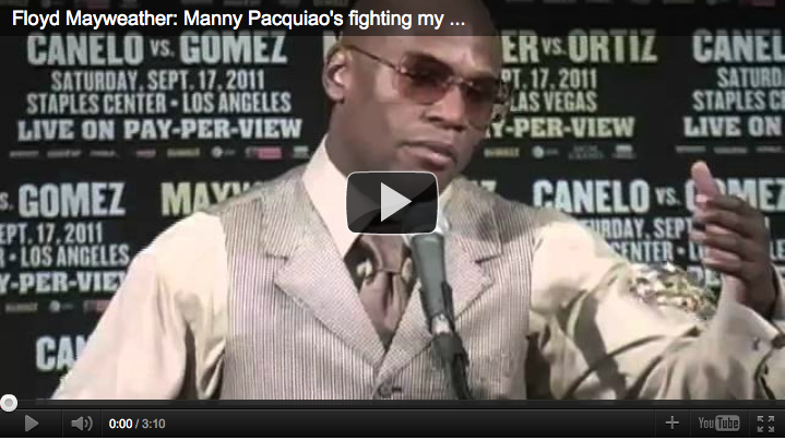 Video of Mayweather's rant against Pacquiao reveals more than just the words; this is one frustrated guy