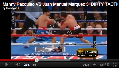 Video: Marquez stepping on Pacquiao's foot — intentional or accidental?
