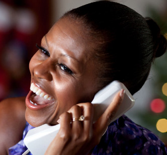 Michelle Obama helping track Santa Claus with NORAD
