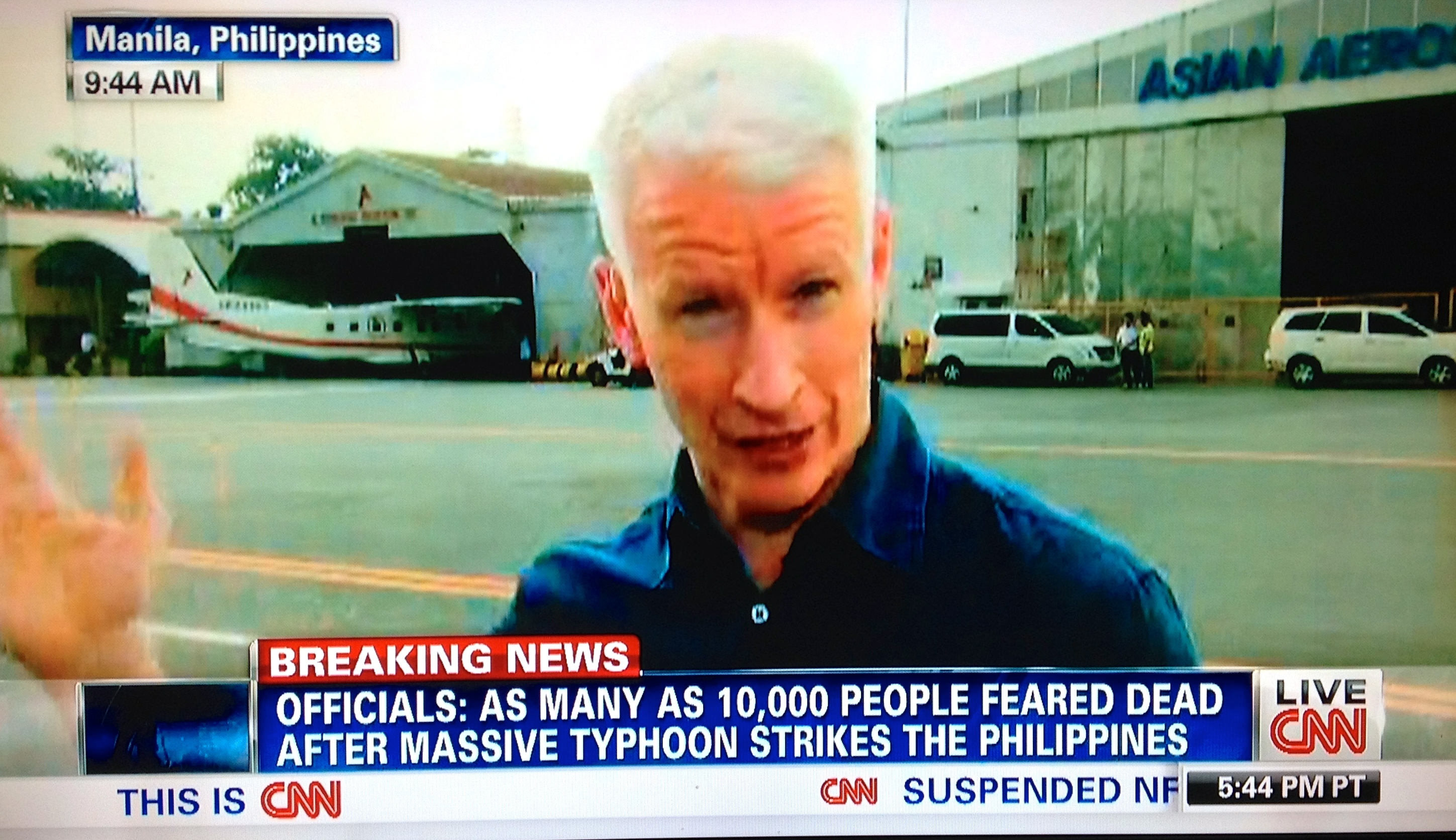 CNN's Anderson Cooper Now Reporting from the Philippines