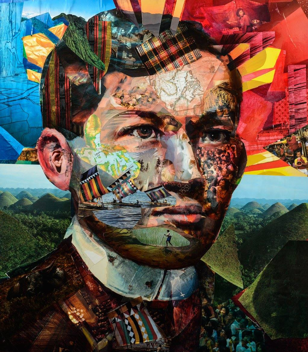 Great Rizal Collage Art by Jeff Huntington